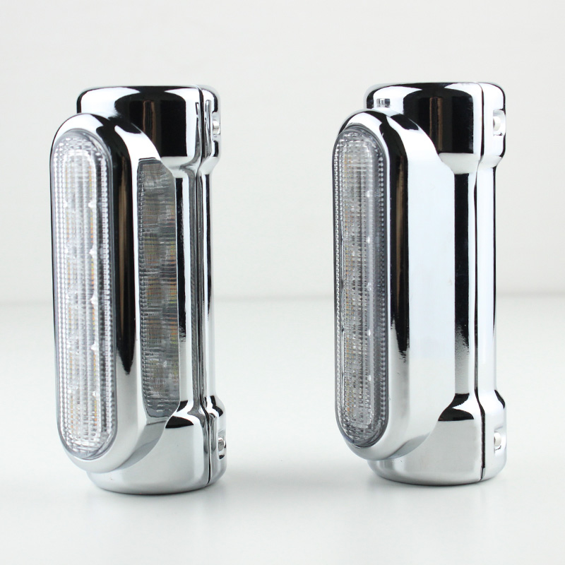 2 Chrome Highway bar Lights Switch Back Driving Light For Harley Davidson Touring Victory Motorcycle motorcycle front brake master cylinder cover for harley davidson touring 1996 2007 chrome black