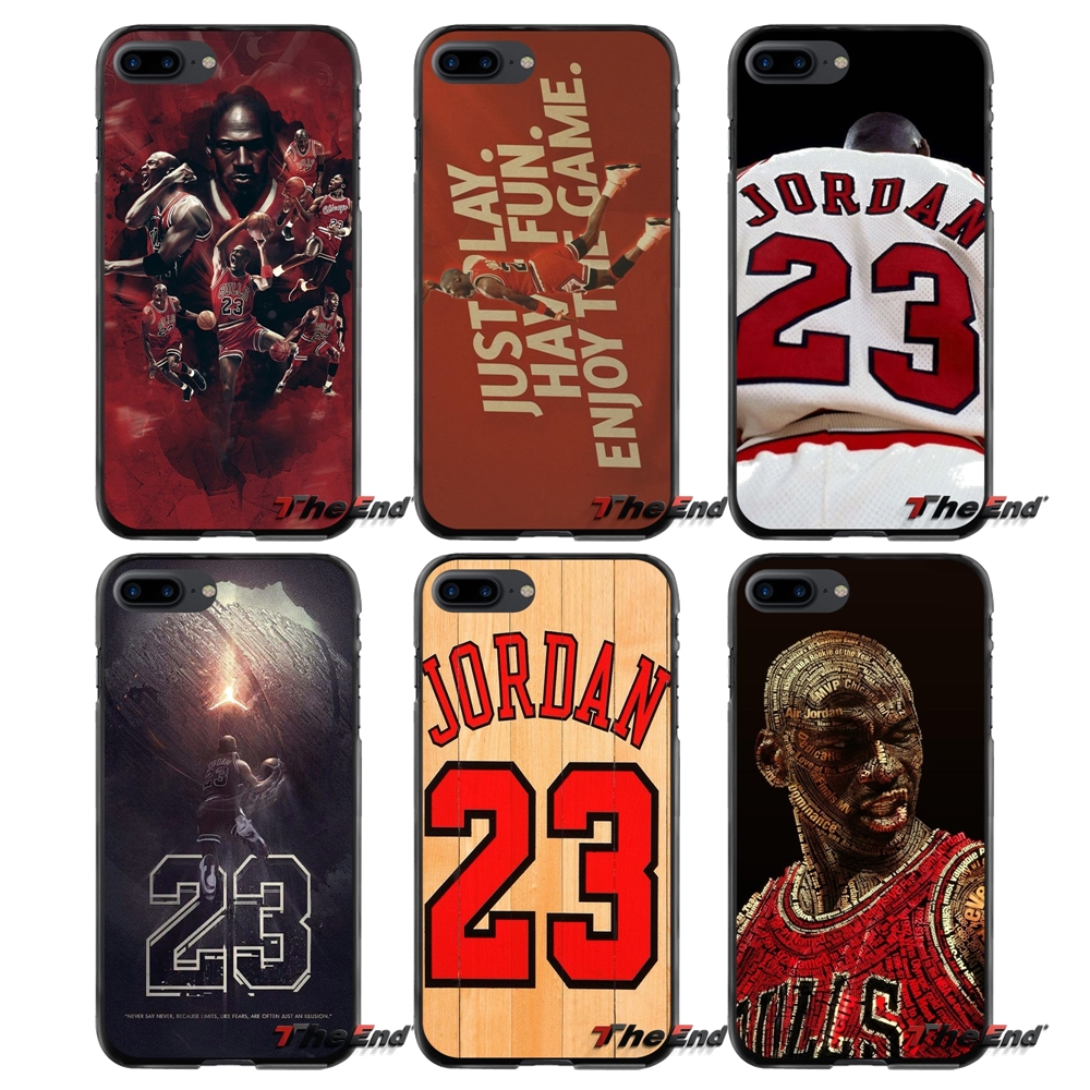For Apple iPhone 4 4S 5 5S 5C SE 6 6S 7 8 Plus X iPod Touch 4 5 6 Accessories Phone Cases Covers fashion basketball star jordan