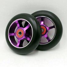 2 roues! livraison gratuite! Freestyle stunt scooter roues/skis à roulettes roues 100mm88A