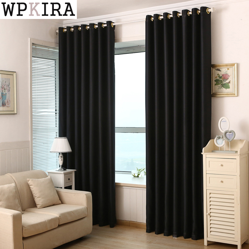 Red Black Solid Window Curtains For Living Room Bedroom Modern Simple  Semi Blackout Curtain For