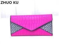 Long Ladies Wallet Genuine Leather 3 Fold Hand Bag Purse Advanced European Vogue Women Zipper Hasp