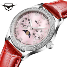 AILANG luxury brand, high-quality diamond, automatic quartz lady watch, Sun Moon true belt waterproof wrist watch