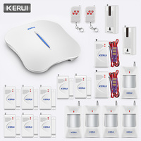 KERUI W1 товаров домашней безопасности Беспроводной WiFi PSTN сигнализации Системы связь приложение будильник Управление Анти кражи дыма PIR датчи
