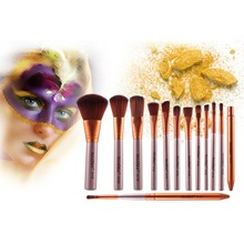 12Pcs/ set Facial Make Up Brushes Soft Cosmetic Gold Color Face Eyes Blush Brush Beauty Tools Newest