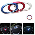 1PCS Universal Interior Steering wheel frame cover trim cover for BMW 1/3/4/5/6/7Series/X1/X3/X5/X6 Blue Color