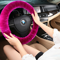 """Luxury Steering Covers Premium Pure Sheepskin Wool Steering Wheel Cover Universal Fit 14""""-15 inch Car Styling 9 Color"""