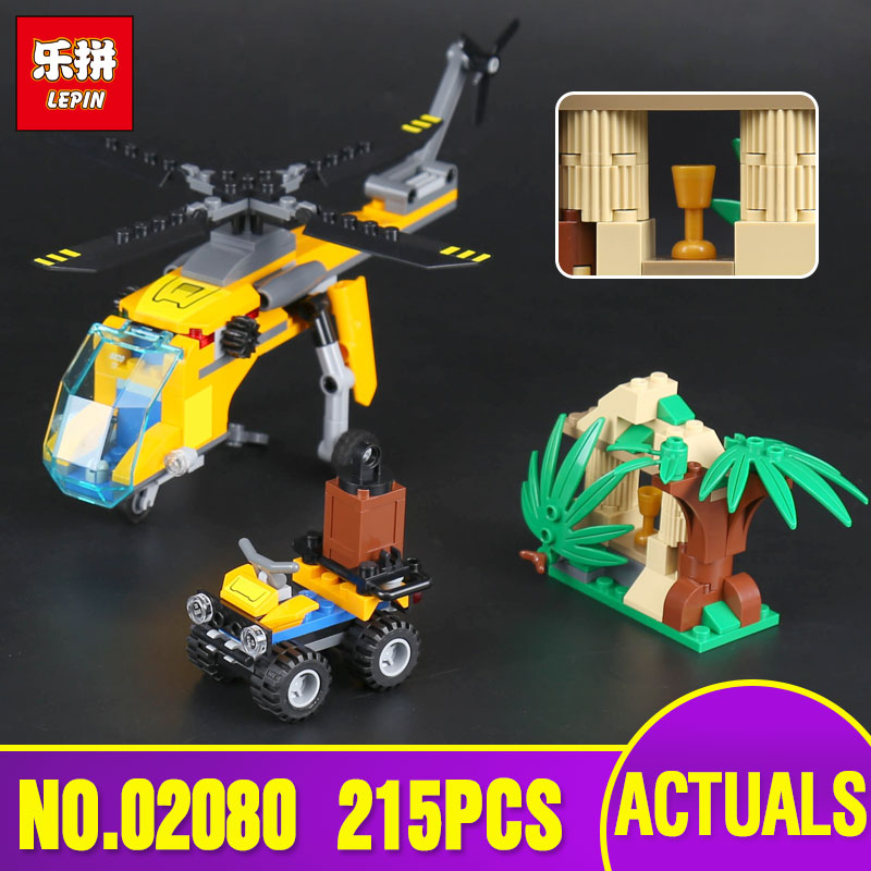 Lepin 02080 City Series The Jungle Cargo Helicopter Set legoing 60158 Building Blocks Bricks Pretty Toys As Kids' Christmas Gift the new jjrc1001 lepin city construction series building blocks diy christmas gift for kid legoe city winter christmas hut toy