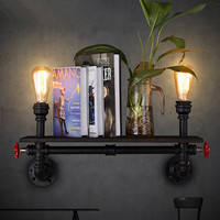 Loft Vintage Industrial Restaurant Bar Wall Sconce Creataive American Style Living Room Study Bookshelf Art Pipe Wall Lamps
