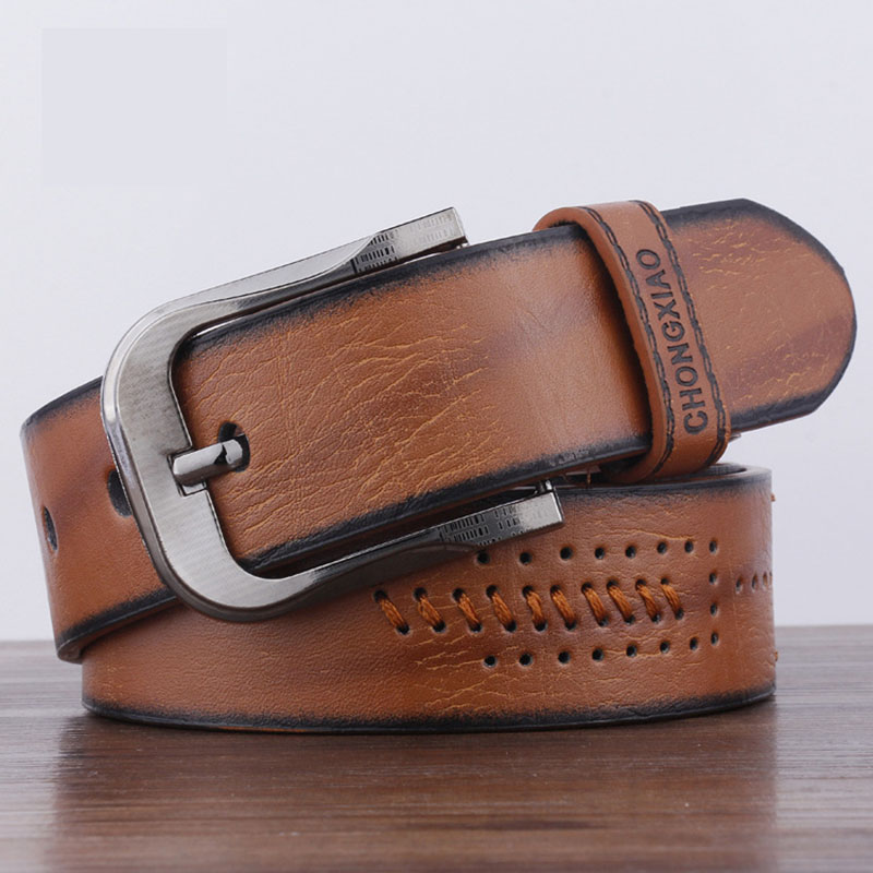 KAWEIDA Fashion Man 2018 Trend Vintage Men's Genuine Leather Cowboy   Belt   Casual Pin Buckle Street Style Student Ceinture Homme