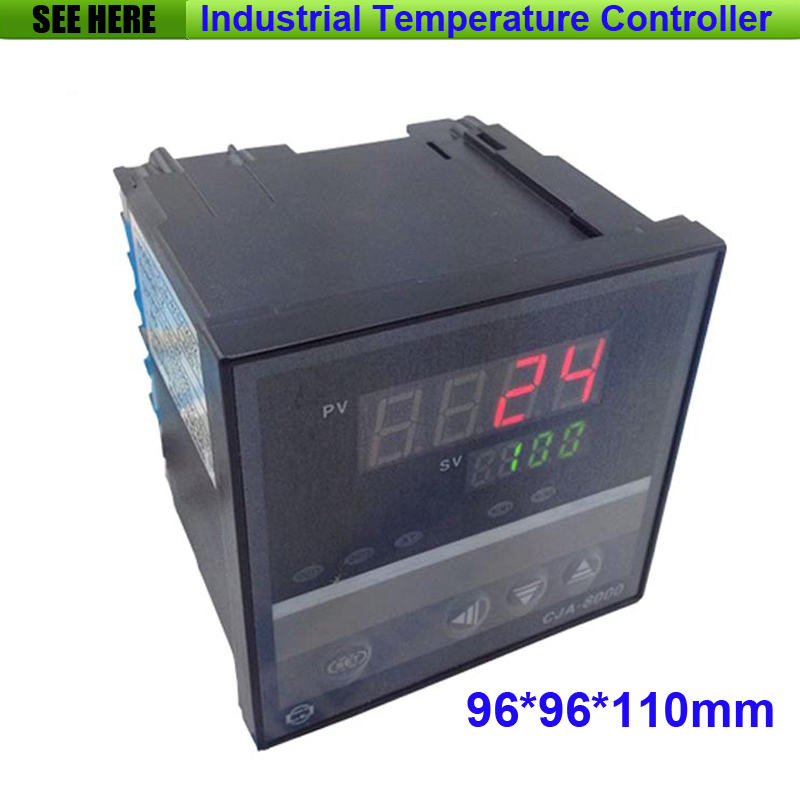 Free Shipping Relay Output Digital Display Industrial Electronic Temperature Controller 96*96 Panel Size Controller dmx512 digital display 24ch dmx address controller dc5v 24v each ch max 3a 8 groups rgb controller