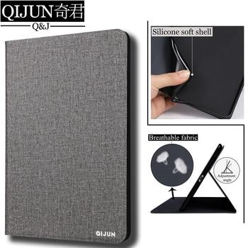 "QIJUN tablet flip case voor Samsung Galaxy Note 10.1 ""beschermende Stand Cover Silicone soft shell fundas capa voor P600 p601 P605"
