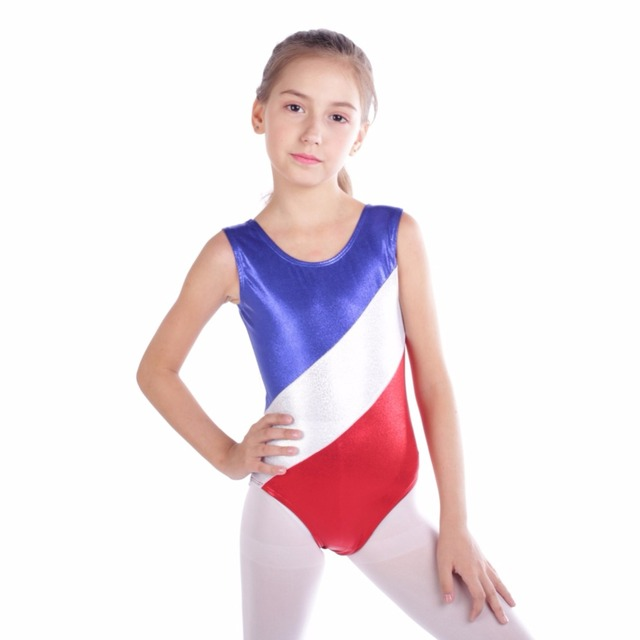 4e007b103 New Gymnastic Leotards Kids Ribbon Sleeveless Dance Leotards For Kid ...