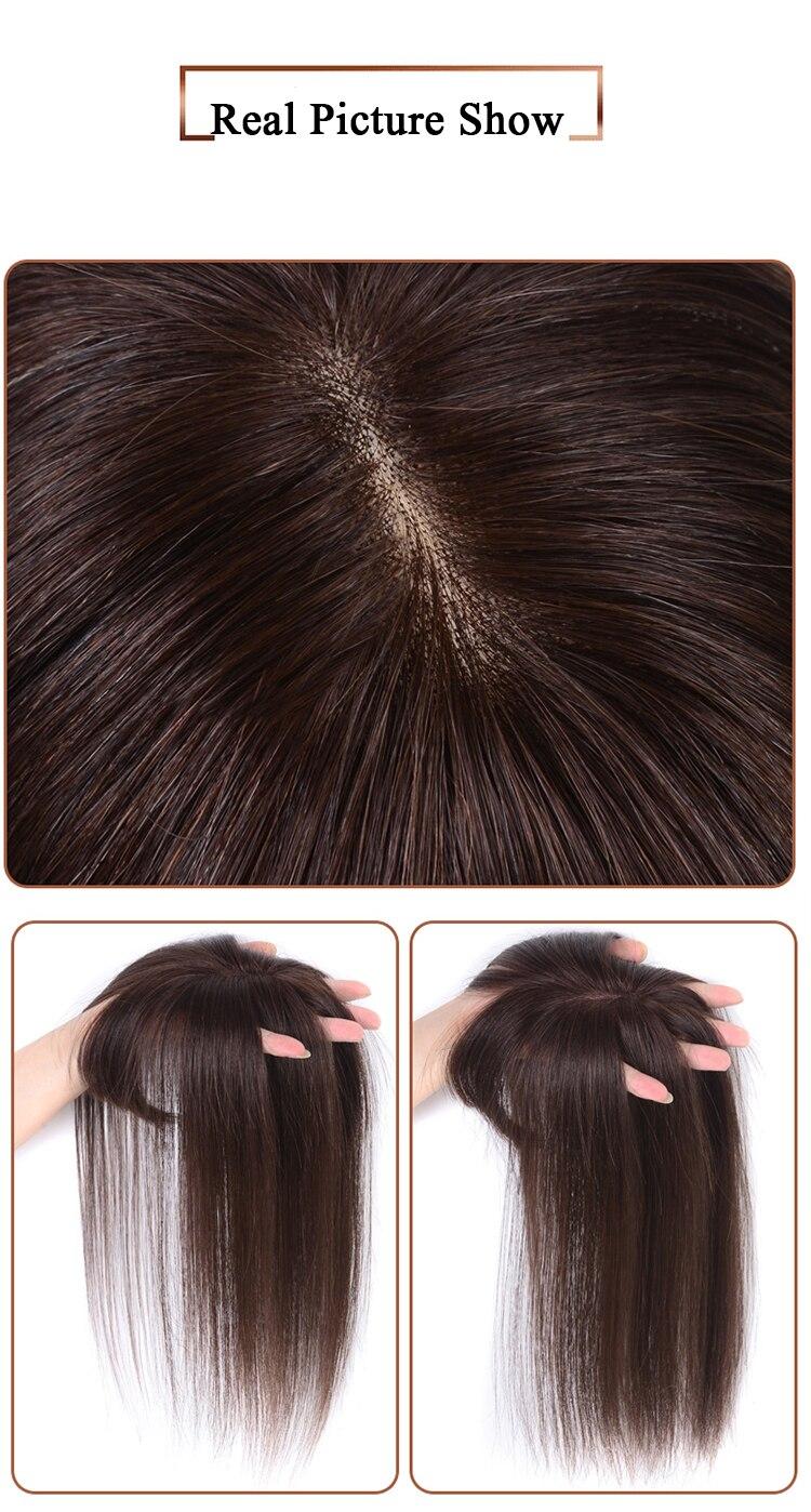 mão topper hairpiece parte superior comingbuy para mulher