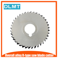 1pcs 80mm R Saw Blade Circular Solid Carbide Round Milling Saw Cutter 80x22x4.6x40T R2.3 Wood Grooving Parting off Cutting Tool