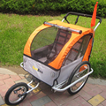 2 in 1 20 inch air wheel and Aluminum alloy frame  jogger bike triler with safe hand brake