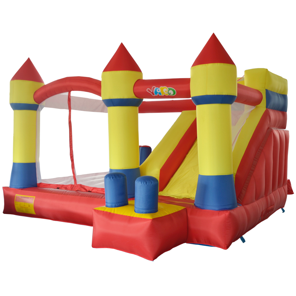 YARD Inflatable Castle Slide Bouncer Jumper for kids 4x3.5x2.5m Big Inflatable Bouncer House Trampoline Outdoors Free PE Balls цена