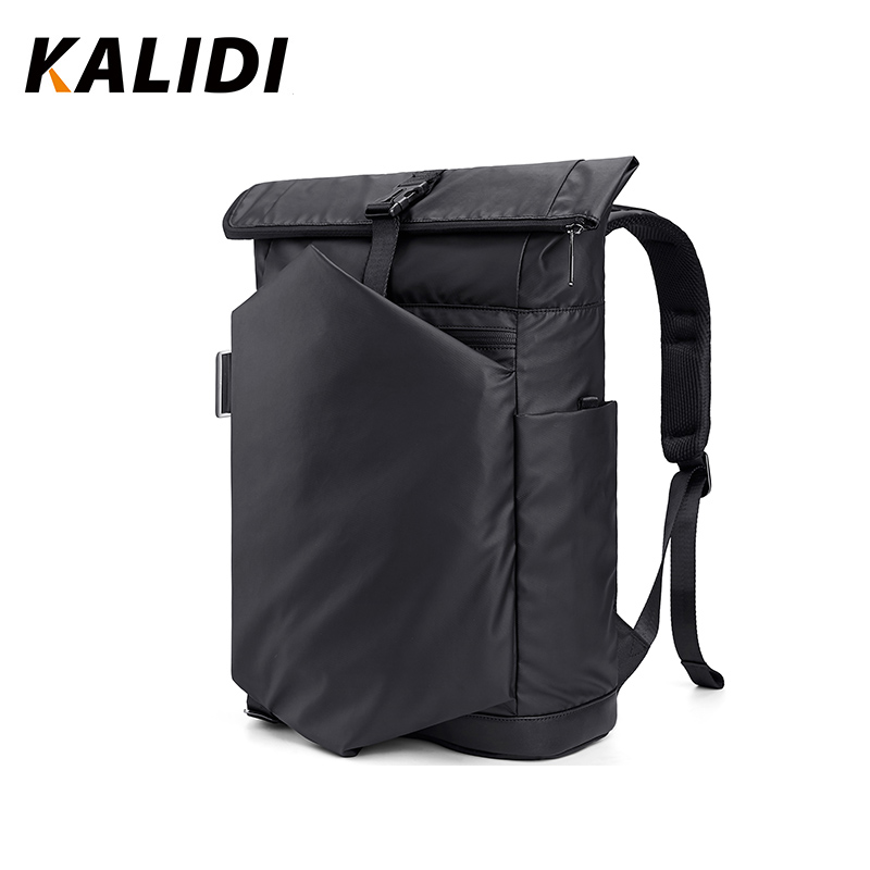 KALIDI Travel Men backpacks 30L Large capacity Waterproof backpacks Solid black mochila Multifunctional anti theft backpacks