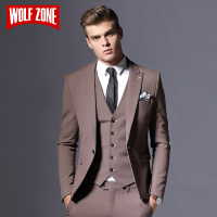 Sale Brand Mens Suit Jacket Formal Business Blazer Men Groom Three Pieces Slim Fit Party Clothing