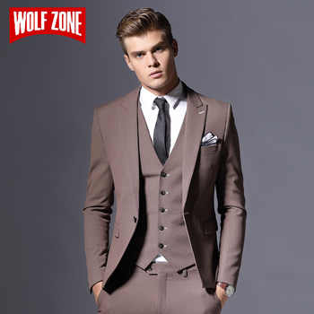Sale Brand Mens Suit Jacket Formal Business Blazer Men Groom Three Pieces Slim Fit Party Clothing Single Button Wedding Dress - DISCOUNT ITEM  25% OFF All Category