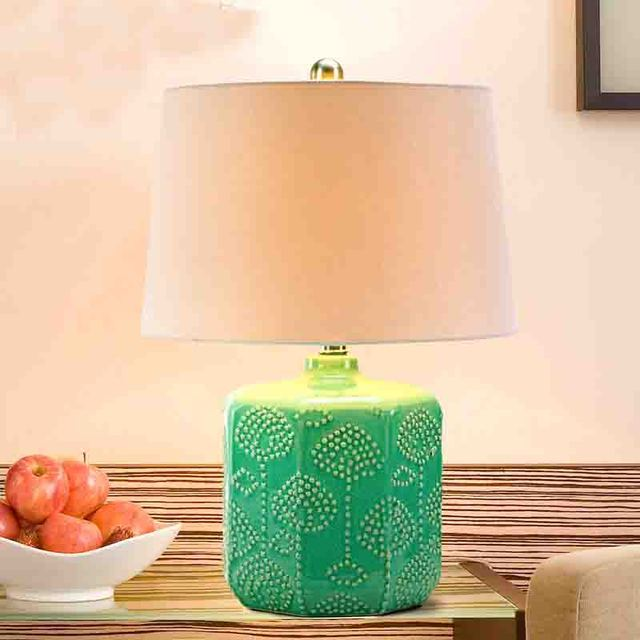 Vintage table lamp e27 bulb green ceramic table bedroom lamp vintage table lamp e27 bulb green ceramic table bedroom lamp nightstand desk light touch switch abajur mozeypictures Image collections