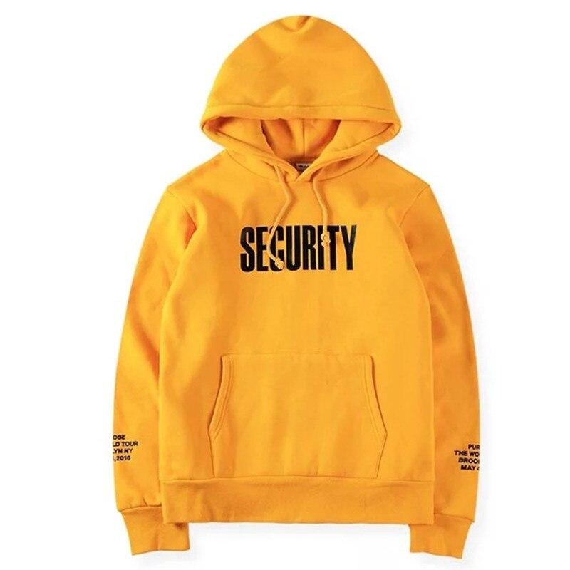 ... Yellow Hoody New Fashion Thick Fleece Security Purpose Tour Vfiles