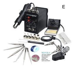 Black Eruntop 8586+ Digital Display  Electric Soldering Irons +Hot Air Gun Better SMD Rework Station Upgraded 8586