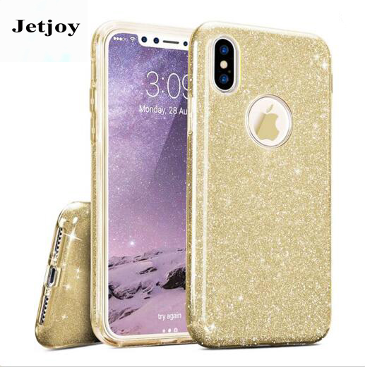 JETJOY For iPhone 10 Ten X Case Luxury Silicone Cases Flexible Hard Shining Glossy Slim  ...