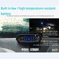 TP-810 Pneu Alarme de Pressão TPMS da Pressão Dos Pneus Do Carro de Abastecimento de Energia Solar Sistema de Monitoramento Inteligente Display LED com 4 Sensores