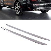 DWCX 2Pcs Chrome Plated Rear Bar Side Trim Cover for Mercedes Benz E Sport Decoration fit for Mercedes Benz E Sport 2016 2017