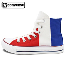France Flag Original Design Converse All Star Men Women Shoes Hand Painted High Top Canvas Sneakers Christmas Gifts