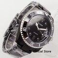BLIGER черный PVD покрытие корпуса часов механические Для мужчин часы Автоматическая Дата 40 мм наручные часы