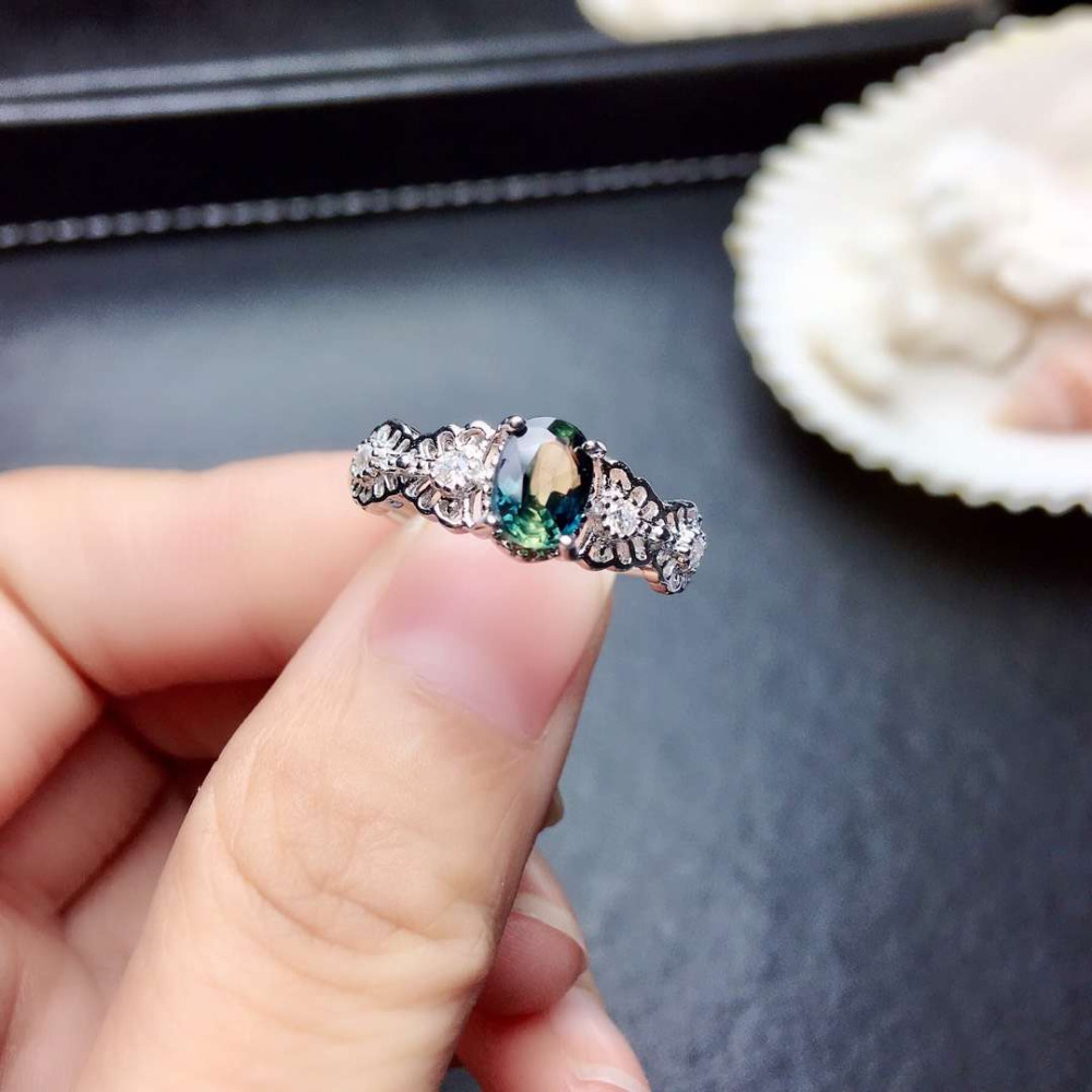 Natural blue sapphire gem Ring Natural gemstone ring 925 sterling silver trendy Elegant Lace Hollowing  women gift party JewelryNatural blue sapphire gem Ring Natural gemstone ring 925 sterling silver trendy Elegant Lace Hollowing  women gift party Jewelry