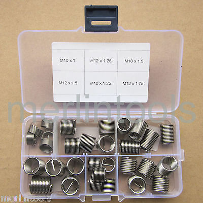 30pcs coil Stainless Steel Thread Repair Insert Assortment Kit M10 M12 цена