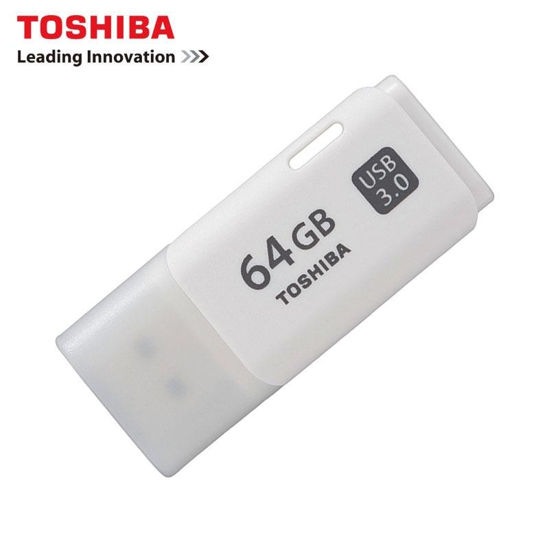 TOSHIBA U301 USB3.0 Flash Drive 64GB 32GB Pen Drive Pendrive Waterproof Plastic White U Disk Memoria Cel USB Stick Gift