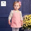 DB4446 dave bella bebê menina rosa vestido de festa vestido de saia suspender