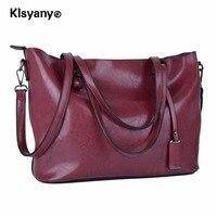 Klsyanyo Women Oil Wax Leather Tote Bag Handbags Shoulder Bag Purse Messenger Handle Satchel