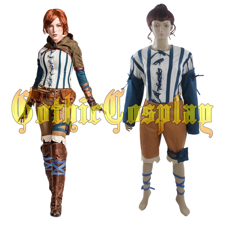Halloween cosplay costumes jeu film super-héros The Witcher 3 sauvage chasse cosplay Triss cosplay costume