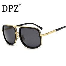 DPZ Brand Design los hombres de lentes de protección UV400 gafas de sol Mujeres steampunk retro cuadrado de Alta calidad de marcas de Lujo con la caja