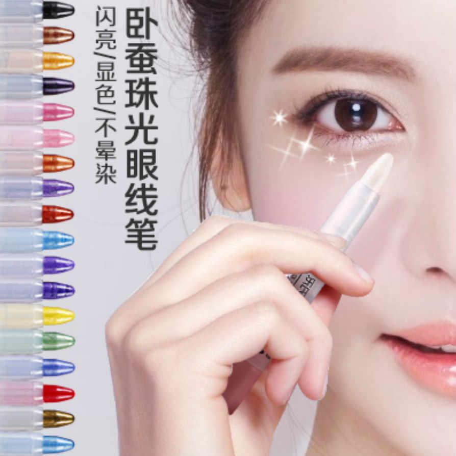 1 Máy Tính Mới Hot Thời Trang Nữ Lâu Kẻ Viền Mắt Bút Chì Sắc Tố Màu Trắng Chống Nước Bút Kẻ Mắt Bút Mắt Mỹ Phẩm dụng Cụ Trang Điểm