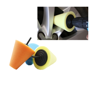 Image 5 - 7pcs רכב דלת ידית גריל מלוטש רפידות גלגל רכזת המפרט מרוט Pad אוטומטי קונוס פינה בצורת ספוג