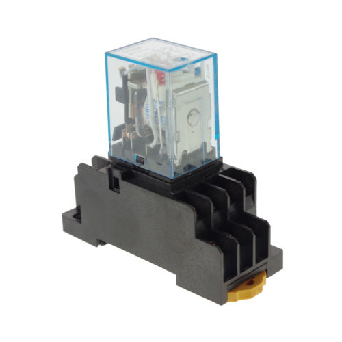 10pcs 110/220VAC 5A Coil Power Relay JQX-13F MY4NJ HH54PL 14Pins 4PDT Socket hh54pl ac 220 240v coil 14 pin 4pdt red led indicator lamp power relay 10 pcs