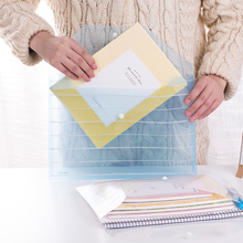 5pcs/lot A4 Transprent Plastic Document bag/paper bag/FIle bag/file holder/Portfolio/Notes Pouch High quality