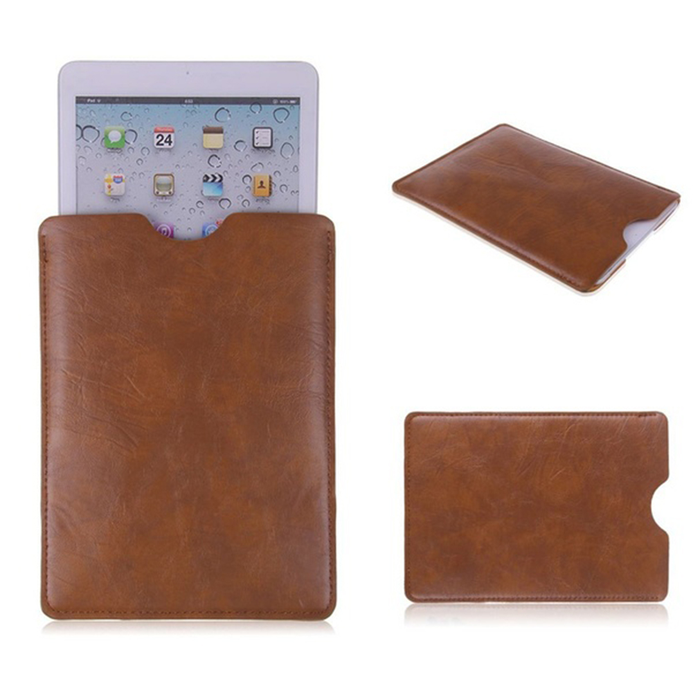 Black/Brown Protect PU Leather Sleeve Bag Case Cover Pouch For 8