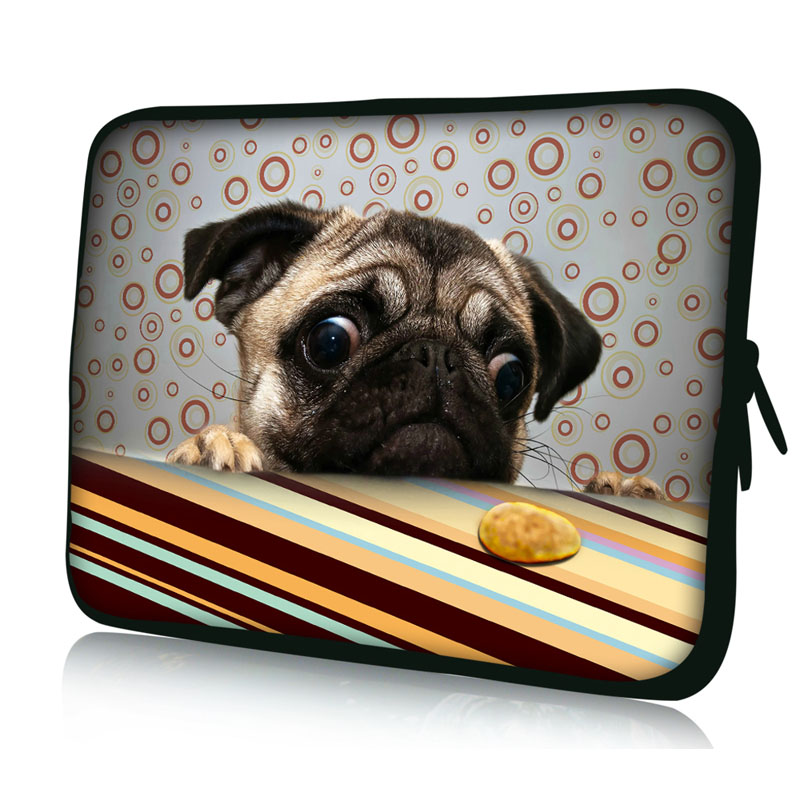 Cute Pug Design Notebook Bag Smart Cover Laptop Sleeve Case 14 14.1 14.4 For Sony Dell Acer ThinkPad Asus Lenovo
