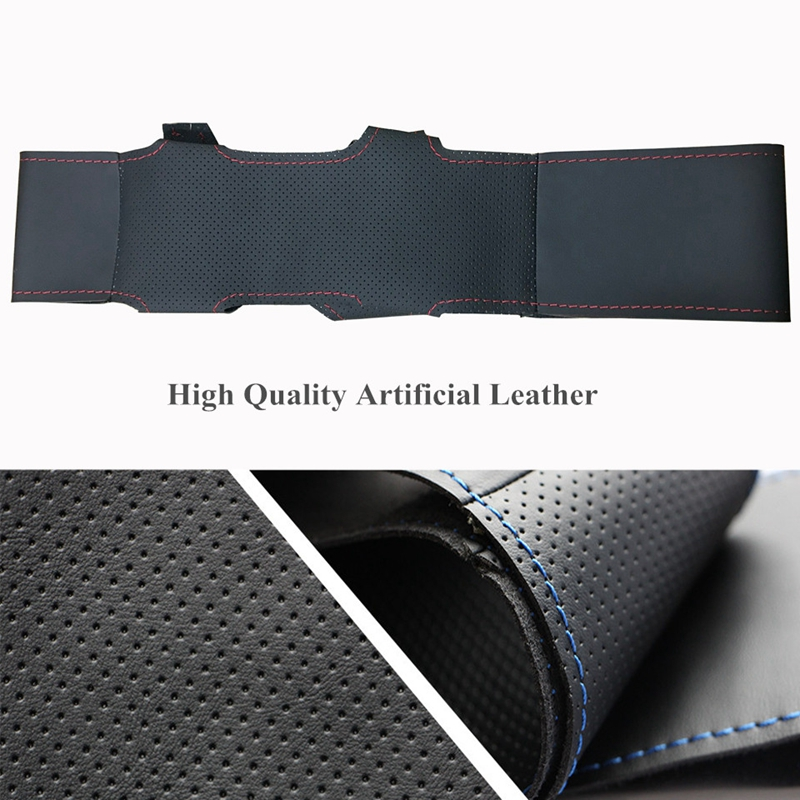 Image 4 - Black Soft Artificial Leather Car Steering Wheel Cover for Ford Focus 3 2012 2014 KUGA Escape 2013 2016-in Steering Covers from Automobiles & Motorcycles