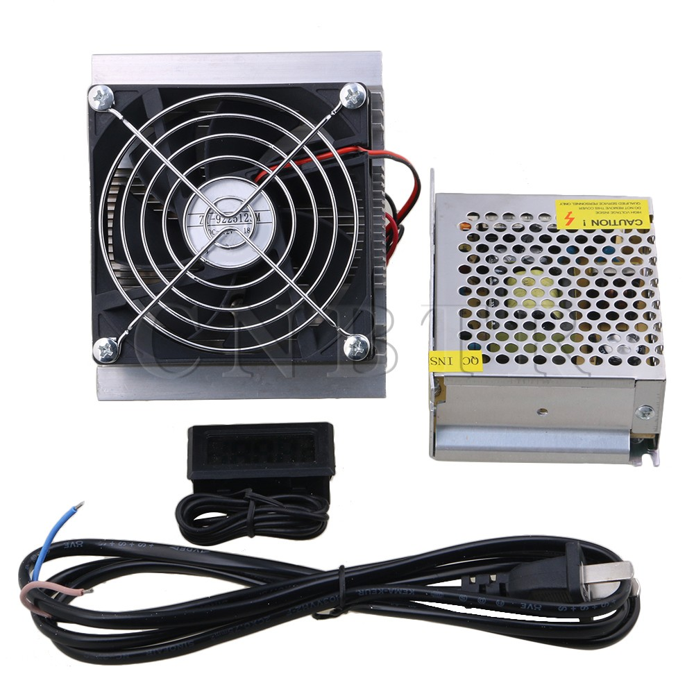 все цены на  CNBTR DC12V Thermoelectric Peltier Refrigeration Cooling System Kit Cooler Fan with Digital Thermometer & Power Supply  онлайн