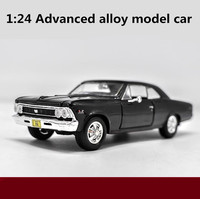 1:24 scale alloy model car,high simulation CHEVELLE SS 1966 model toys,3 open the door,collection toy vehicles,free shipping