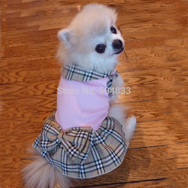 Designer Dogs Clothes Brand Print BR Pets Doggie Dress Dog Products Pink XS XL New Arrival On