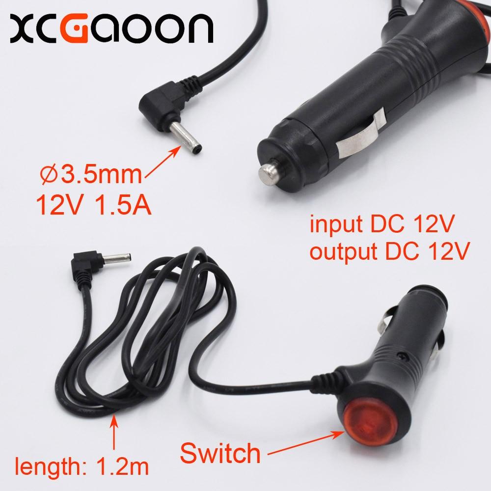 XCGaoon 3.5mm Port Car Charger For Car Radar Detector / DVR Camera / GPS input DC 12V output 12V 1.5A, Cable Length 1.2m (3.9ft)