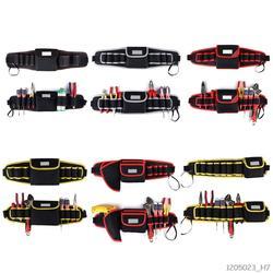 Электрик дрель сумки для инструментов талии карман сумка ремень хранения держатель техническое обслуживание комплект